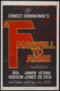 "Movie Posters:War, A Farewell to Arms (20th Century Fox, 1958). One Sheet (27"" X 41"").War...."