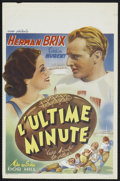 """Movie Posters:Sports, Two Minutes to Play (Sidef, 1937). Pre-War Belgian (11"""" X 16.75""""). Sports...."""