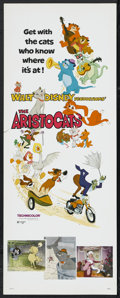 "Movie Posters:Animated, The Aristocats (Buena Vista, R-1980). Insert (14"" X 36""). Animated...."