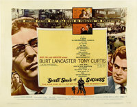 """Sweet Smell of Success (United Artists, 1957). Half Sheet (22"""" X 28"""") Style B"""
