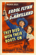 "Movie Posters:Western, They Died With Their Boots On (Warner Brothers, 1941). One Sheet (27"" X 41"")...."