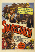 "Movie Posters:Western, Stagecoach (United Artists, R-1948). One Sheet (27"" X 41"")...."