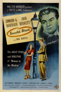 "Movie Posters:Film Noir, Scarlet Street (Universal, 1945). One Sheet (27"" X 41"")...."