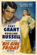"Movie Posters:Comedy, His Girl Friday (Columbia, 1940). One Sheet (27"" X 41"") Style A...."