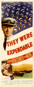 "Movie Posters:War, They Were Expendable (MGM, 1945). Insert (14"" X 36"")...."