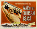"""Movie Posters:Science Fiction, War of the Colossal Beast (American International, 1958). Half Sheet (22"""" X 28"""")...."""