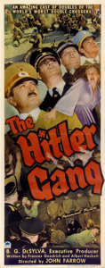 "Movie Posters:War, The Hitler Gang (Paramount, 1944). Insert (14"" X 36"")...."