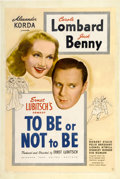 "Movie Posters:Comedy, To Be or Not to Be (United Artists, 1942). One Sheet (27"" X41"")...."