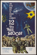"Movie Posters:Science Fiction, 12 to the Moon (Columbia, 1960). One Sheet (27"" X 41""). ScienceFiction...."