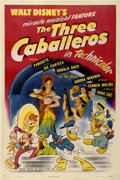"Movie Posters:Animated, The Three Caballeros (RKO, 1944). One Sheet (27"" X 41"")...."