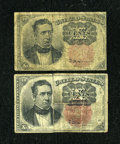 Fractional Currency:Fifth Issue, Fr. 1265 10c Fifth Issue. Two Examples. Good-Very Good.... (Total:2 notes)