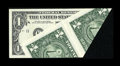 Error Notes:Foldovers, Fr. 1925-K $1 1999 Federal Reserve Note. Choice AboutUncirculated.. ...