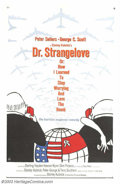"""Movie Posters:Comedy, Dr. Strangelove or: How I Learned to Stop Worrying and Love theBomb (Columbia, 1964). One Sheet (27"""" X 41""""). One of Stanley..."""