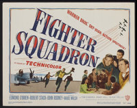 "Fighter Squadron (Warner Brothers, 1948). Title Lobby Card (11"" X 14""). War"