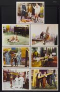 """Movie Posters:Comedy, Laurel and Hardy's Laughing 20's (MGM, 1965). International LobbyCards (7) (11"""" X 14""""). Comedy.... (Total: 7 Items)"""