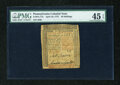 Colonial Notes:Pennsylvania, Pennsylvania April 10, 1775 50s PMG Choice Extremely Fine 45EPQ....