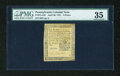 Colonial Notes:Pennsylvania, Pennsylvania April 20, 1781 6d PMG Choice Very Fine 35....