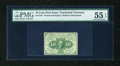 Fractional Currency:First Issue, Fr. 1241 10c First Issue PMG About Uncirculated 55 EPQ....
