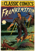 Golden Age (1938-1955):Classics Illustrated, Classic Comics #26 Frankenstein HRN 30 (Gilberton, 1945) Condition:FN....