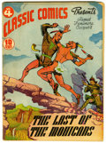 Golden Age (1938-1955):Classics Illustrated, Classic Comics #4 Last of the Mohicans - first edition (Gilberton,1942) Condition: Average GD/VG....