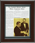 Football Collectibles:Others, Vince Lombardi Signed Magazine Clipping. Pro football coaching legend Vince Lombardi laid the groundwork for the approach t...