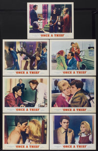 "Once a Thief (MGM, 1965). Lobby Cards (7) (11"" X 14""). Crime.... (Total: 7 Items)"