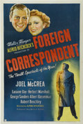 "Movie Posters:Hitchcock, Foreign Correspondent (United Artists, 1940). One Sheet (27"" X41"")...."