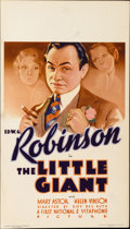 "Movie Posters:Crime, The Little Giant (First National, 1933). Midget Window Card (8"" X14"")...."
