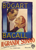 "Movie Posters:Film Noir, The Big Sleep (Warner Brothers, 1946). Italian 2 - Folio (39.5"" X55"")...."