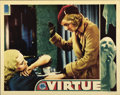 "Movie Posters:Drama, Virtue (Columbia, 1932). Lobby Card (11"" X 14"")...."