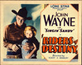 "Movie Posters:Western, Riders of Destiny (Monogram, 1933). Title Lobby Card (11"" X 14"")....."