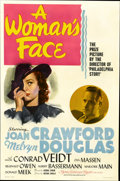 """Movie Posters:Drama, A Woman's Face (MGM, 1941). One Sheet (27"""" X 41"""")...."""