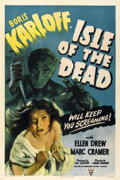 """Movie Posters:Horror, Isle of the Dead (RKO, 1945). One Sheet (27"""" X 41"""") Style A...."""