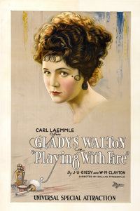 "Playing With Fire (Universal, 1921). One Sheet (27"" X 41"")"