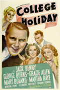 "Movie Posters:Comedy, College Holiday (Paramount, 1936). One Sheet (27"" X 41"")...."