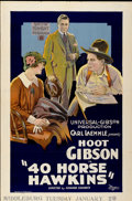 "Movie Posters:Comedy, 40 Horse Hawkins (Universal, 1924). One Sheet (27"" X 41"")...."