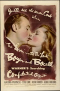 "Movie Posters:Drama, Confidential Agent (Warner Brothers, 1945). One Sheet (27"" X 41"")...."