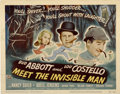 """Movie Posters:Comedy, Abbott and Costello Meet the Invisible Man (UniversalInternational, 1951). Title Lobby Card (11"""" X 14"""")...."""