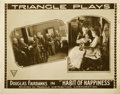 "Movie Posters:Comedy, The Habit of Happiness (Triangle, 1916). Lobby Card (11"" X 14"")...."