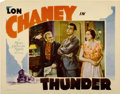 "Movie Posters:Drama, Thunder (MGM, 1929). Lobby Card (11"" X 14"")...."