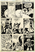 Original Comic Art:Panel Pages, Jim Starlin and Pablo Marcos Captain Marvel #27 page 12Original Art (Marvel, 1973)....