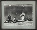 "Autographs:Photos, Ted Williams Signed Oversized Photograph. Exceptional 16x20"" blackand white photograph depicts The Splendid Splinter"" in a..."