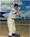 Autographs:Photos, Mickey Mantle Signed Photograph. Righty or lefty Mick? In thisauction, you have the choice as photos of Mantle swinging fr...