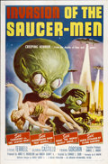 "Movie Posters:Science Fiction, Invasion of the Saucer-men (American International, 1957). One Sheet (27"" X 41"")...."