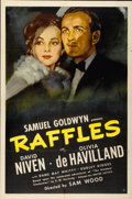 "Movie Posters:Romance, Raffles (United Artists, 1939). One Sheet (27"" X 41"")...."
