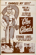 "Movie Posters:Cult Classic, Glen or Glenda (I Led Two Lives) (Screen Classics Inc., 1953). OneSheet (27"" X 41"")...."