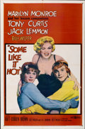 "Movie Posters:Comedy, Some Like It Hot (United Artists, 1959). One Sheet (27"" X 41"")...."