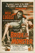 "Movie Posters:Horror, Bride of the Monster (Filmmakers Releasing, 1956). One Sheet (27"" X41"")...."