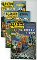 Golden Age (1938-1955):Classics Illustrated, Classics Illustrated #19, 47 and 80 Group (Gilberton, 1944-51)....(Total: 3 Comic Books)