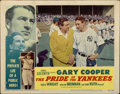 "Movie Posters:Sports, The Pride of the Yankees (RKO, R-1949). Lobby Card (11"" X 14"")...."